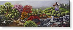 The Garden Of Koan Acrylic Print by Laurie Golden