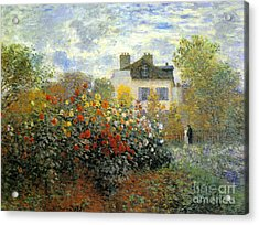 The Garden Of Monet At Argenteuil Acrylic Print by Monet