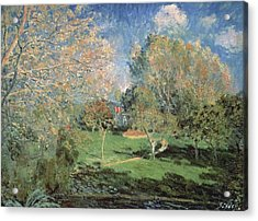 The Garden Of Monsieur Hoschede In Montgeron Acrylic Print by MotionAge Designs