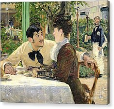 The Garden Of Pere Lathuille Acrylic Print by Edouard Manet
