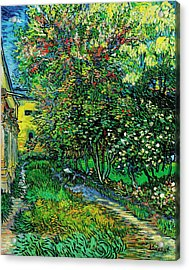 The Garden Of The Asylum At Saint-remy Acrylic Print