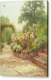 The Garden Steps   Acrylic Print