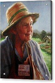 The Gardener Acrylic Print by Janet McGrath