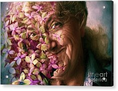 The Gardener Acrylic Print by Jean OKeeffe Macro Abundance Art