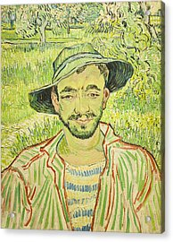 The Gardener Or Young Peasant Acrylic Print by Vincent Van Gogh