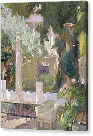 The Gardens At The Sorolla Family House Acrylic Print by Joaquin Sorolla y Bastida