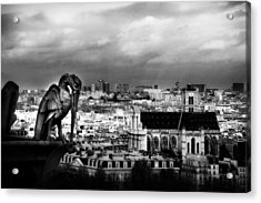 The Gargoyles Of Notre Dame Acrylic Print by Cabral Stock