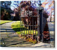 Acrylic Print featuring the photograph The Gate by Betsy Zimmerli