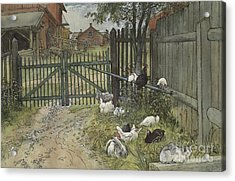 The Gate Acrylic Print by Carl Larsson