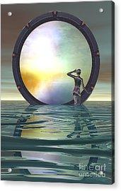 Acrylic Print featuring the digital art The Gate by Sandra Bauser Digital Art