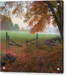 The Gate Square Acrylic Print by Bill Wakeley