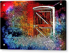 The Gate Acrylic Print by Tom Gowanlock