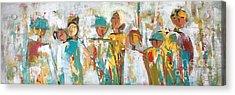 The Gatherers  Acrylic Print by Elaine Lanoue