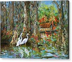 The Gathering - Louisiana Swamp Life Acrylic Print