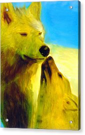 Acrylic Print featuring the painting The Gathering by FeatherStone Studio Julie A Miller