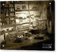Acrylic Print featuring the photograph The General Store by Pete Hellmann