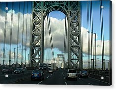 The George Washington Bridge  Acrylic Print by Paul SEQUENCE Ferguson             sequence dot net