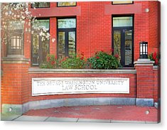 Acrylic Print featuring the photograph The George Washington University Law School Dc by Susan Candelario