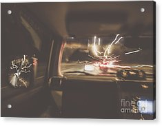 The Getaway Car Chase Acrylic Print by Jorgo Photography - Wall Art Gallery