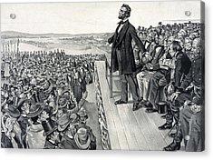 The Gettysburg Address Acrylic Print by American School