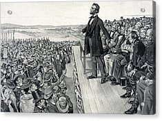 The Gettysburg Address Acrylic Print