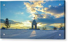 The Gettysburg Memorial At Sunset Acrylic Print by Bill Cannon