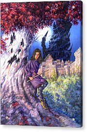 The Ghost In Harrenhal Acrylic Print by Richard Hescox
