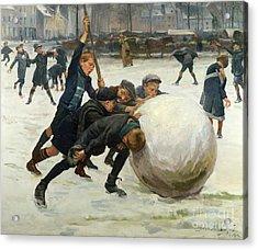 The Giant Snowball Acrylic Print by Jean Mayne