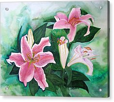 Acrylic Print featuring the painting The Gift by Margaret Bobb