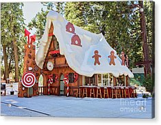 Acrylic Print featuring the photograph The Gingerbread House by Eddie Yerkish