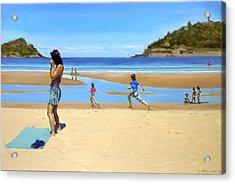 The Girl At La Concha Beach Acrylic Print by Gordon Bell