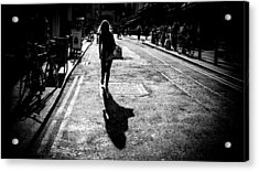 The Girl - Dublin, Ireland - Black And White Street Photography Acrylic Print by Giuseppe Milo