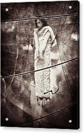 The Girl In The Bubble Acrylic Print by Dave Bowman