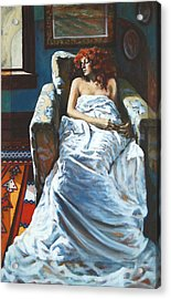 The Girl In The Chair Acrylic Print