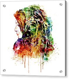 The Girl Is A Dj Acrylic Print by Marian Voicu