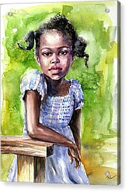 The Girl On The Veranda Acrylic Print