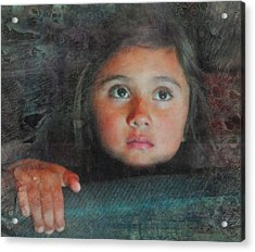 Acrylic Print featuring the photograph The Girl With The Chocolate Eyes by Kate Word