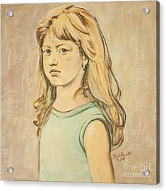 The Girl With The Golden Hair Acrylic Print