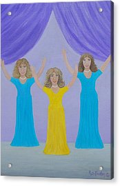 The Giving Of Praise Acrylic Print by Ruth  Housley