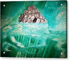 The Glacier Acrylic Print by Roy Penny
