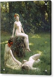 The Glade Acrylic Print by Julius Leblanc Stewart