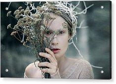 The Glance. Prickle Tenderness Acrylic Print by Inna Mosina