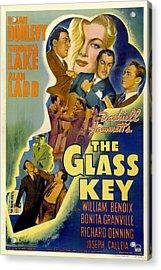 The Glass Key, William Bendix, Veronica Acrylic Print by Everett