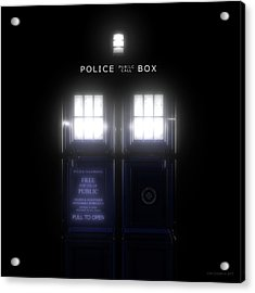 The Glass Police Box Acrylic Print