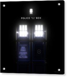 The Glass Police Box Acrylic Print