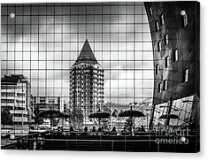Acrylic Print featuring the photograph The Glass Windows Of The Market Hall In Rotterdam by RicardMN Photography