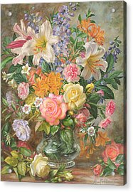 The Glory Of Summertime Acrylic Print by Albert Williams