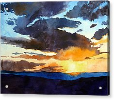 The Glory Of The Sunset Acrylic Print