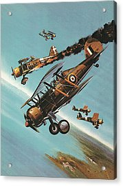The Gloster Gladiator  Squadron Leader Pattle Acrylic Print by Wilf Hardy