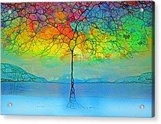 The Glow Tree Acrylic Print